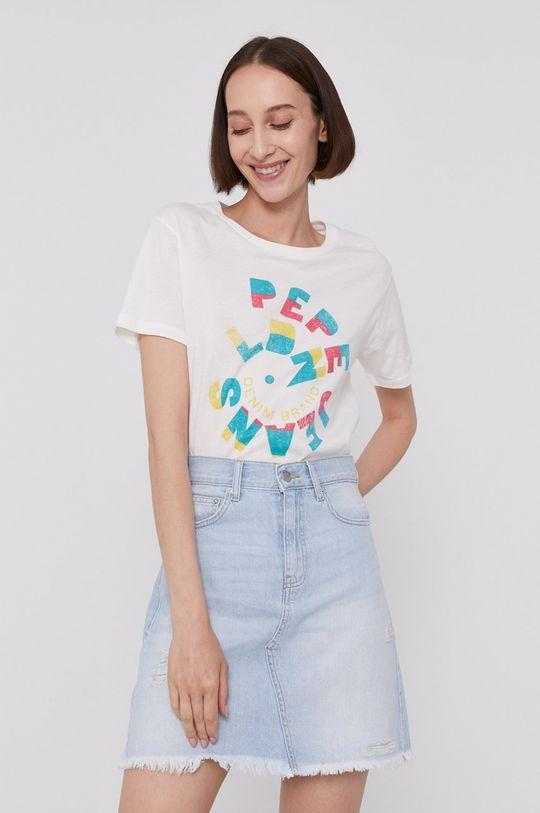 kremowy Pepe Jeans - T-shirt DREE Damski