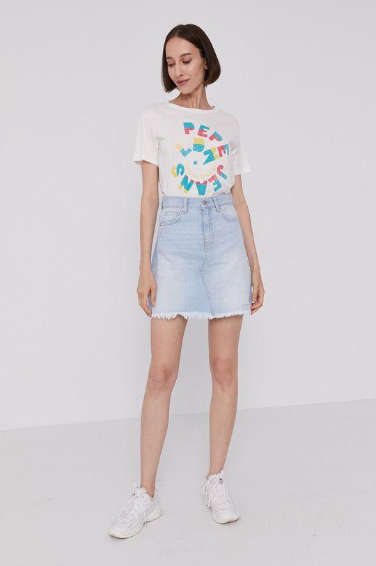 Pepe Jeans - T-shirt DREE kremowy
