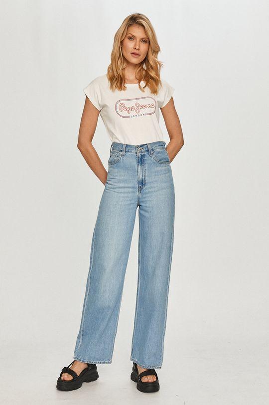 Pepe Jeans - Tričko Carol bílá
