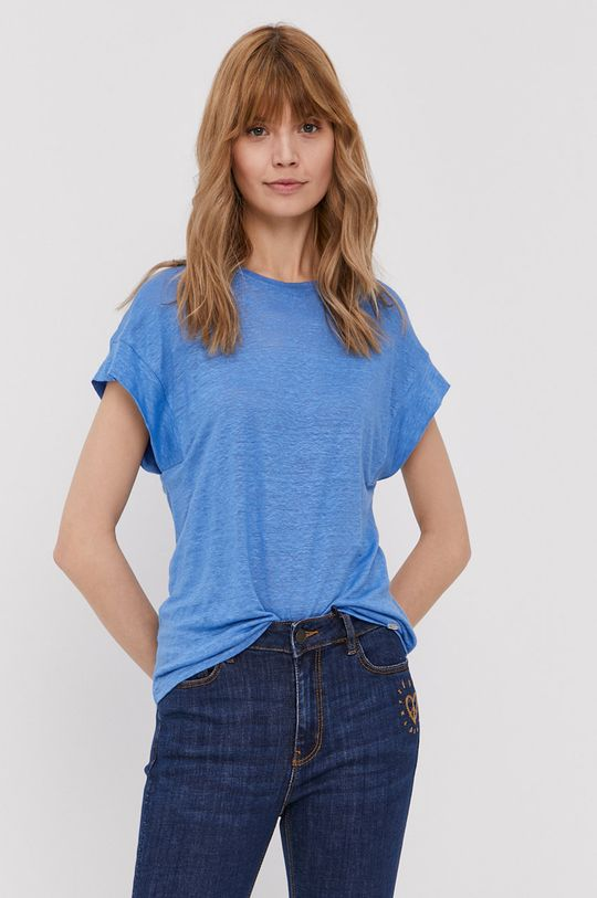 modrá Pepe Jeans - Tričko Cleo Dámsky