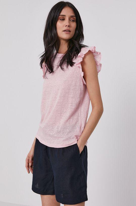 różowy Pepe Jeans - T-shirt Daisy