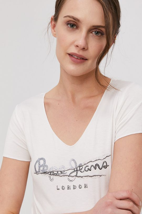 biały Pepe Jeans - T-shirt Charlotte