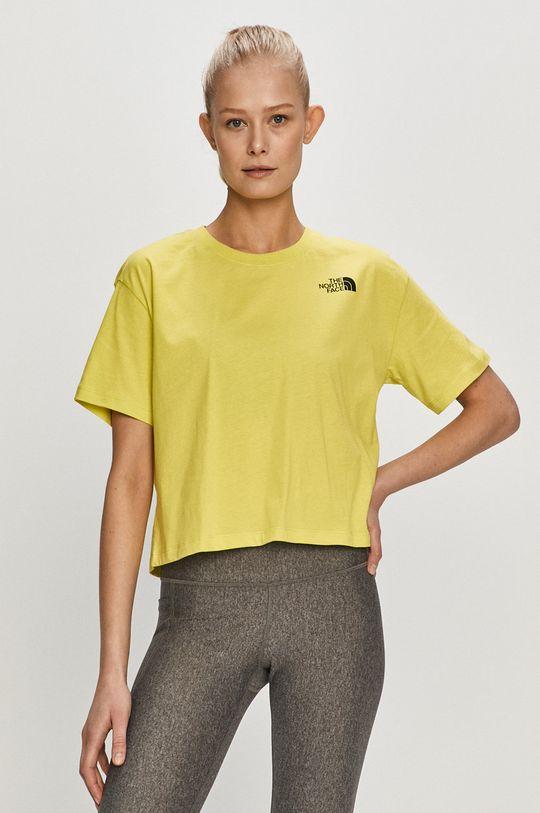 żółto - zielony The North Face - T-shirt Damski
