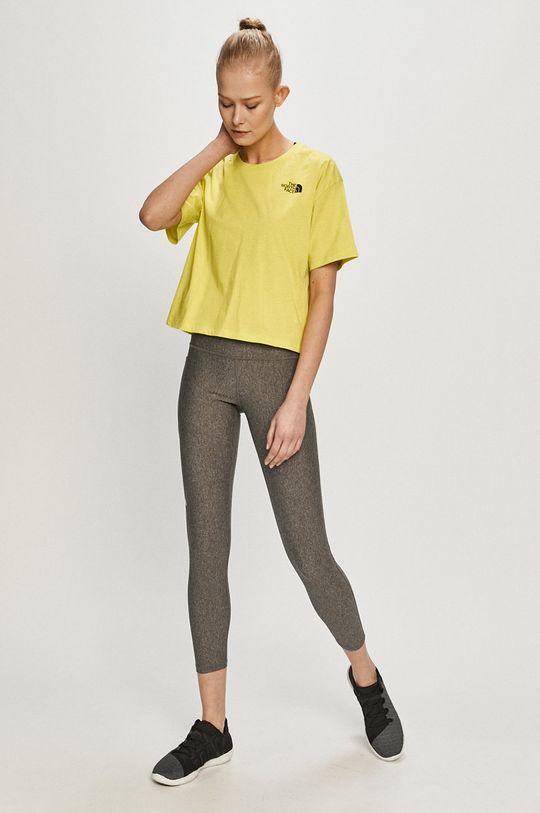 The North Face - T-shirt żółto - zielony