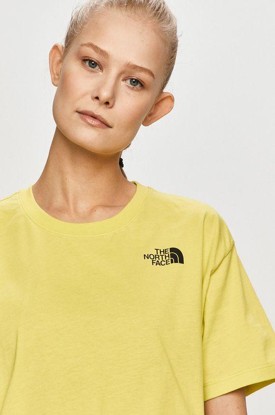 żółto - zielony The North Face - T-shirt