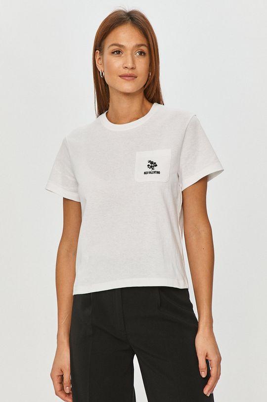 biały Red Valentino - T-shirt Damski
