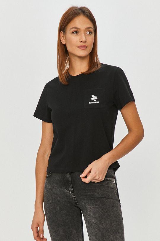 czarny Red Valentino - T-shirt Damski