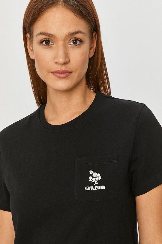 czarny Red Valentino - T-shirt