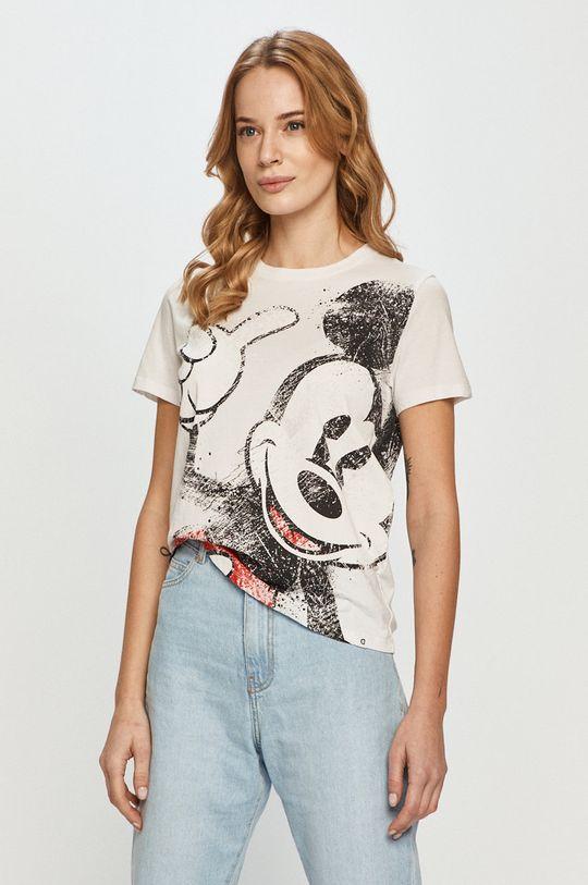 biały Desigual - T-shirt Damski