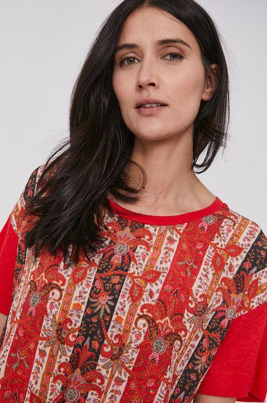 czerwony Desigual - T-shirt