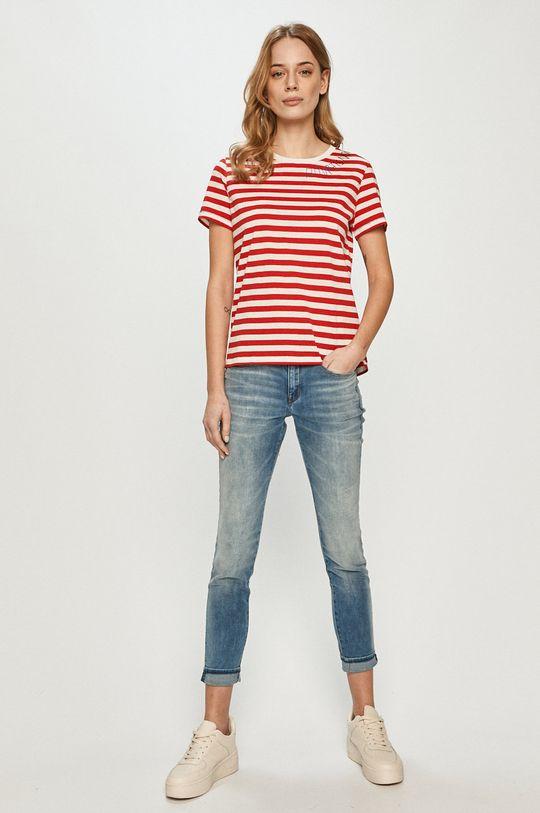 Desigual - T-shirt czerwony