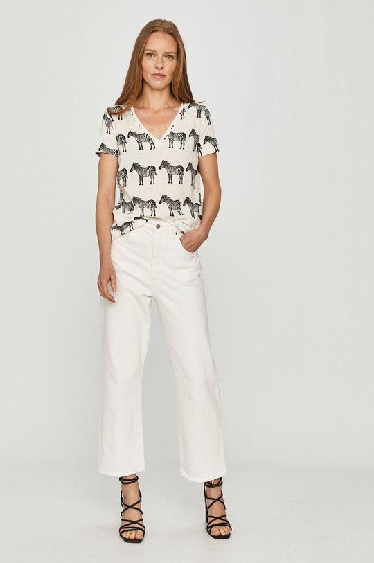 Desigual - Tričko biela