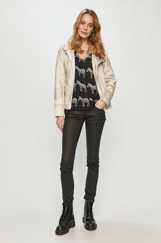 Desigual - T-shirt czarny