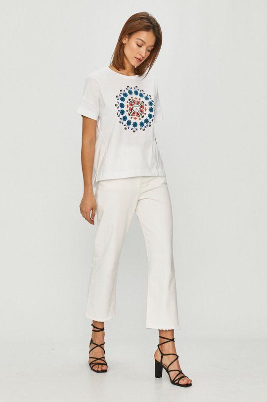 Desigual - T-shirt biały