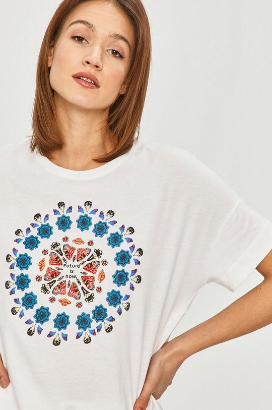 biały Desigual - T-shirt