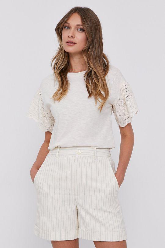 kremowy Lauren Ralph Lauren - T-shirt Damski