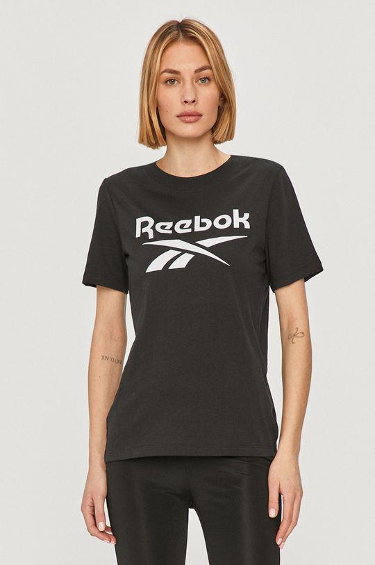 czarny Reebok - T-shirt Damski