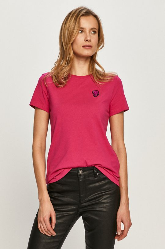 różowy Karl Lagerfeld - T-shirt Damski