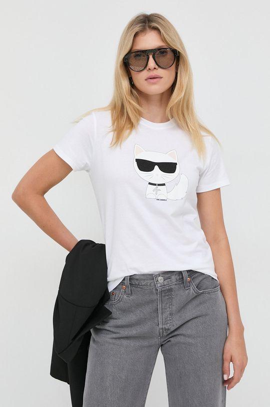 biały Karl Lagerfeld - T-shirt Damski