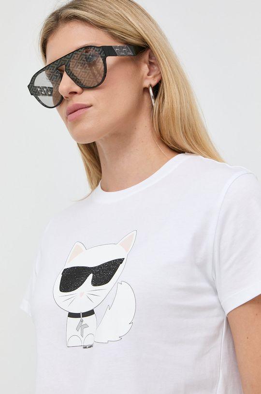 biały Karl Lagerfeld - T-shirt