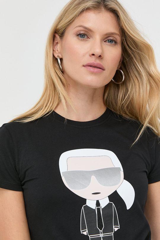 czarny Karl Lagerfeld - T-shirt
