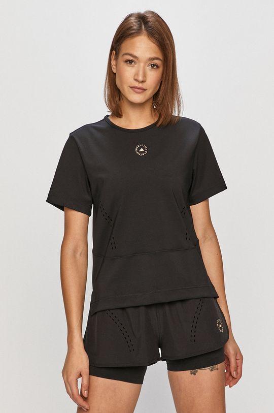czarny adidas by Stella McCartney - T-shirt Damski