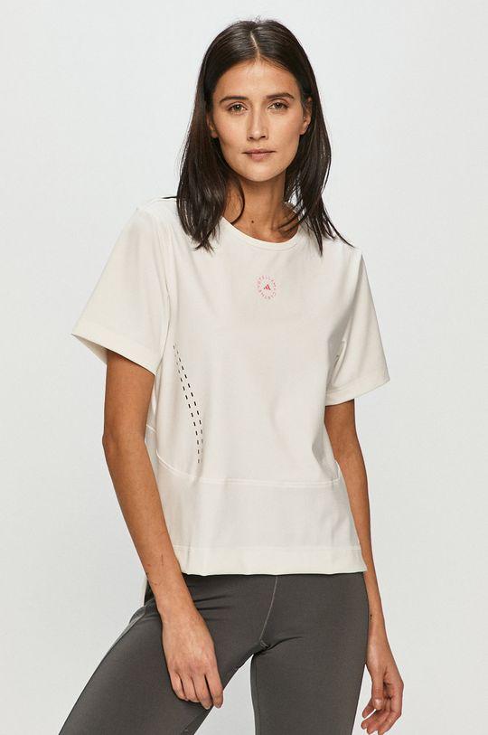 biały adidas by Stella McCartney - T-shirt