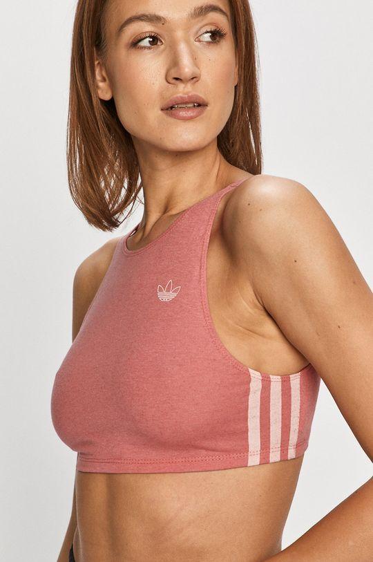 ostry różowy adidas Originals - Biustonosz sportowy