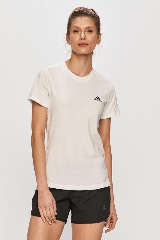 bílá adidas - Tričko Dámský