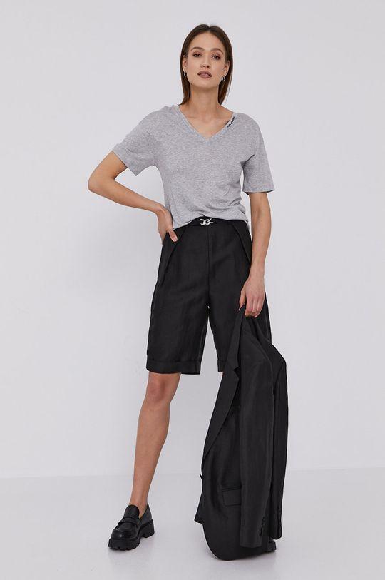 Karl Lagerfeld - T-shirt jasny szary