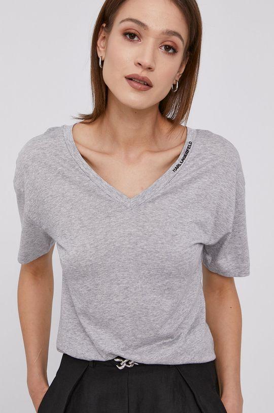 jasny szary Karl Lagerfeld - T-shirt