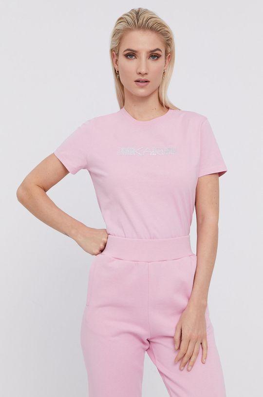 różowy Karl Lagerfeld - T-shirt