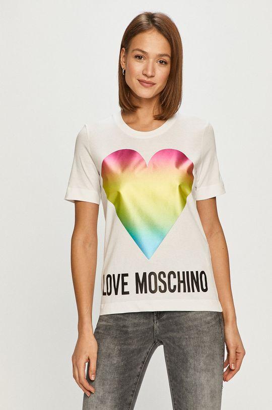 biela Love Moschino - Tričko Dámsky