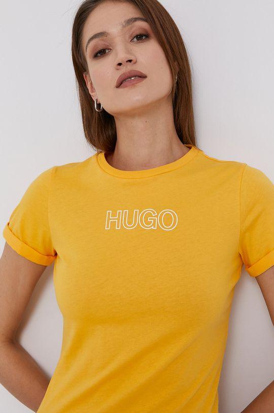 žltá Hugo - Tričko Dámsky