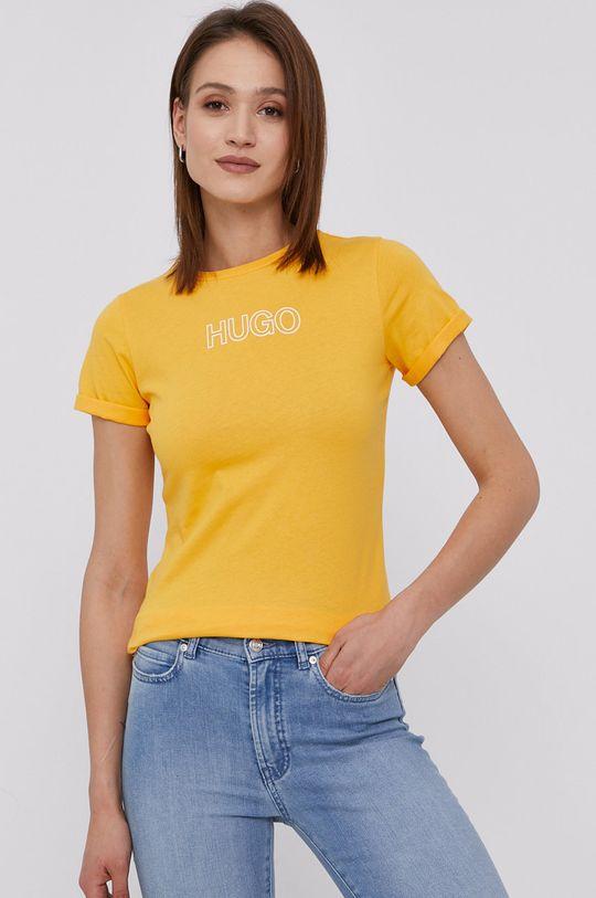 žltá Hugo - Tričko