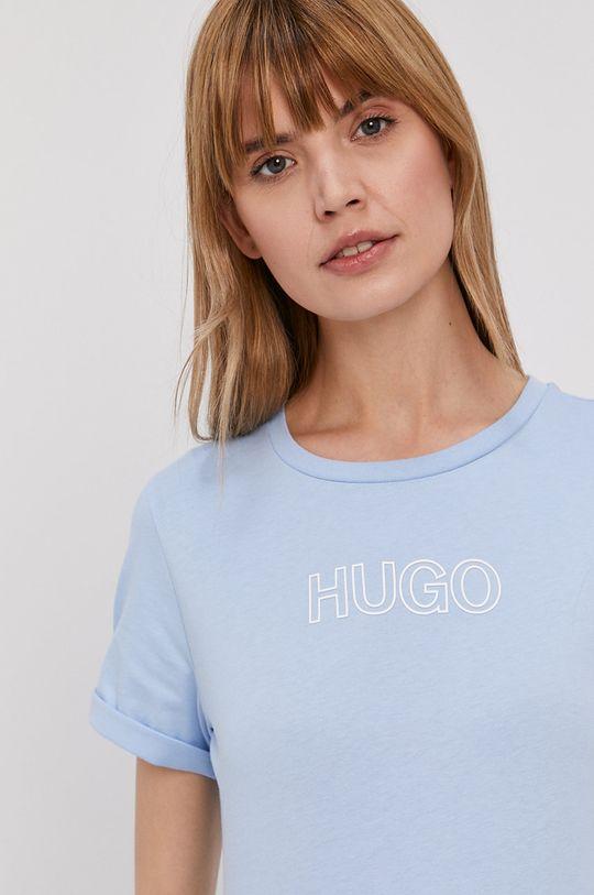 jasny niebieski Hugo - T-shirt Damski