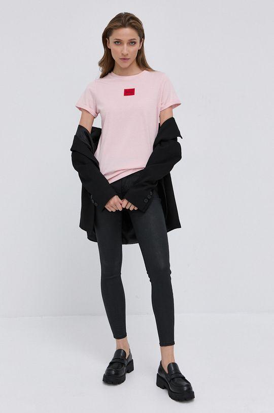 HUGO - T-shirt/polo 50456008 brudny róż
