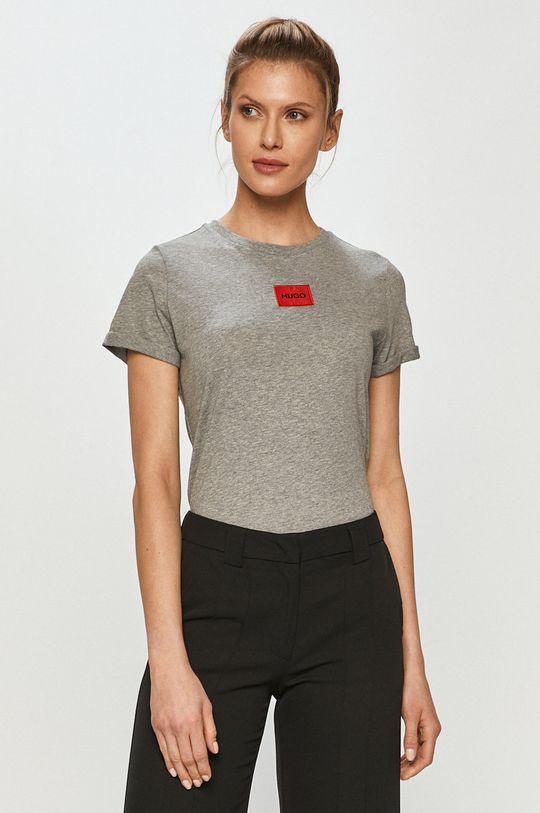 szary Hugo - T-shirt Damski