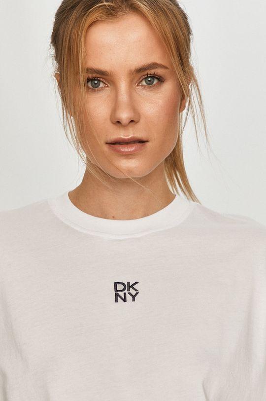 biały Dkny - T-shirt