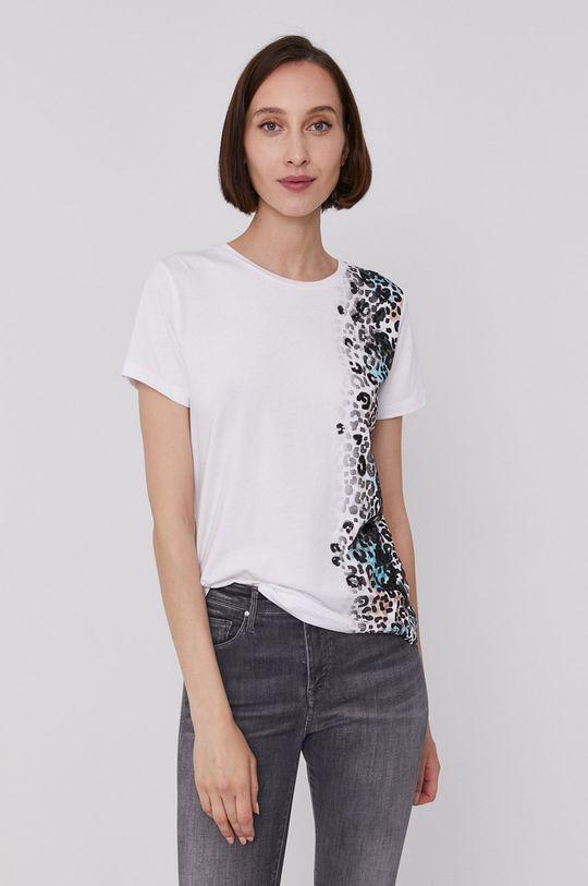 biały Dkny - T-shirt Damski