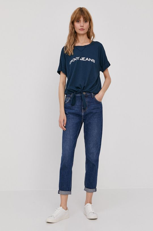 Dkny - T-shirt granatowy