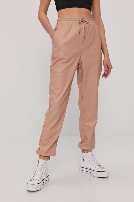 Vero Moda - Spodnie brudny róż