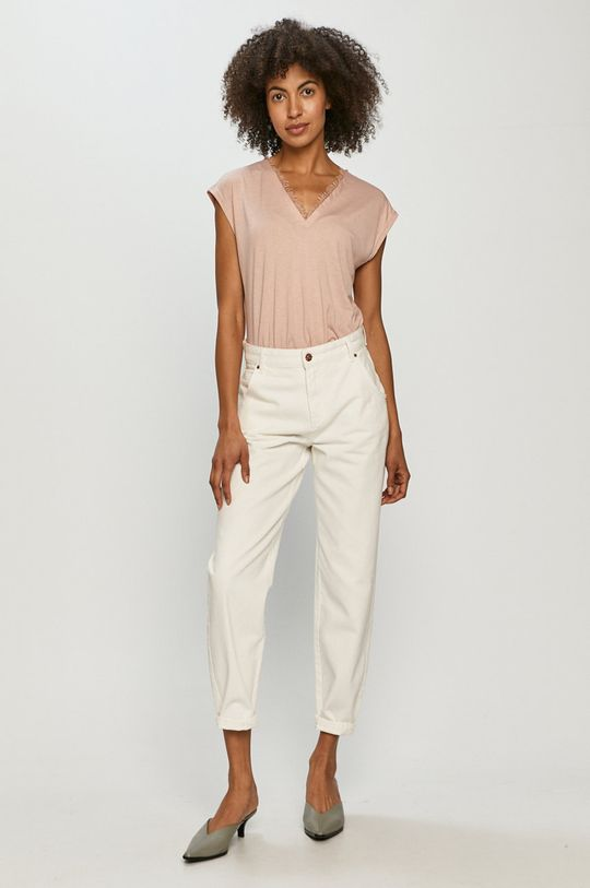 Vero Moda - Tričko pastelová ružová