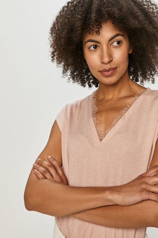 pastelová ružová Vero Moda - Tričko