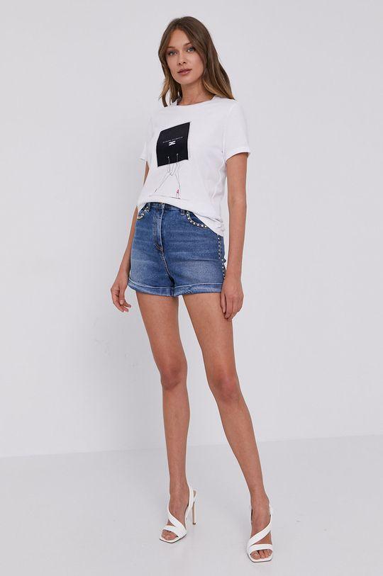Elisabetta Franchi - T-shirt biały