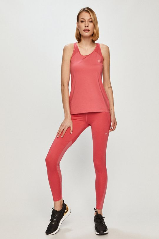 Calvin Klein Performance - Top ostry różowy