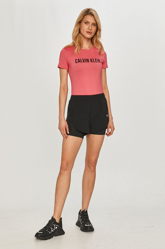 Calvin Klein Performance - Tričko ostrá růžová