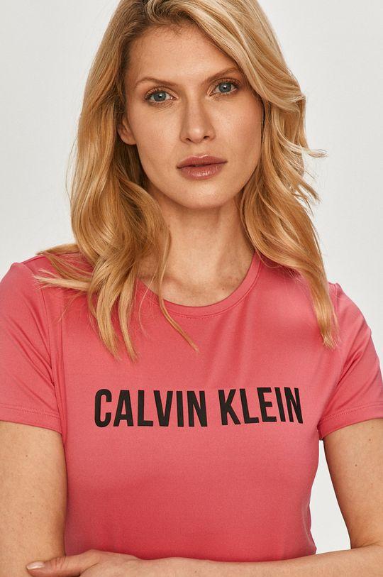 ostrá růžová Calvin Klein Performance - Tričko
