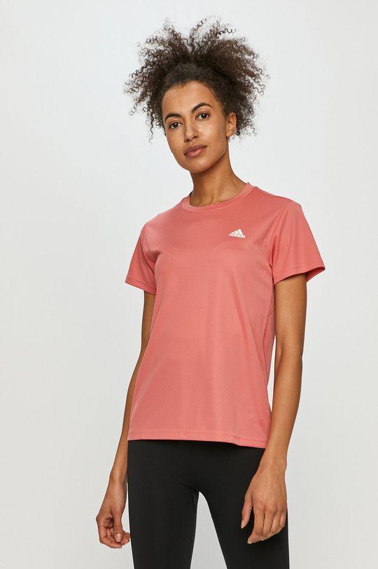 ostry różowy adidas - T-shirt Damski