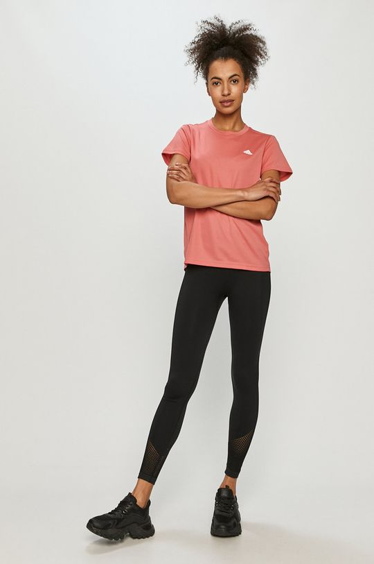 adidas - T-shirt ostry różowy